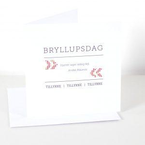 Würtz Design Kort Hjertet tager aldrig fejl
