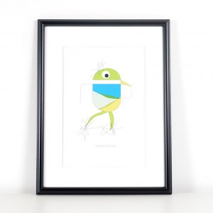 Würtz Design Plakat Grøn fugl 1