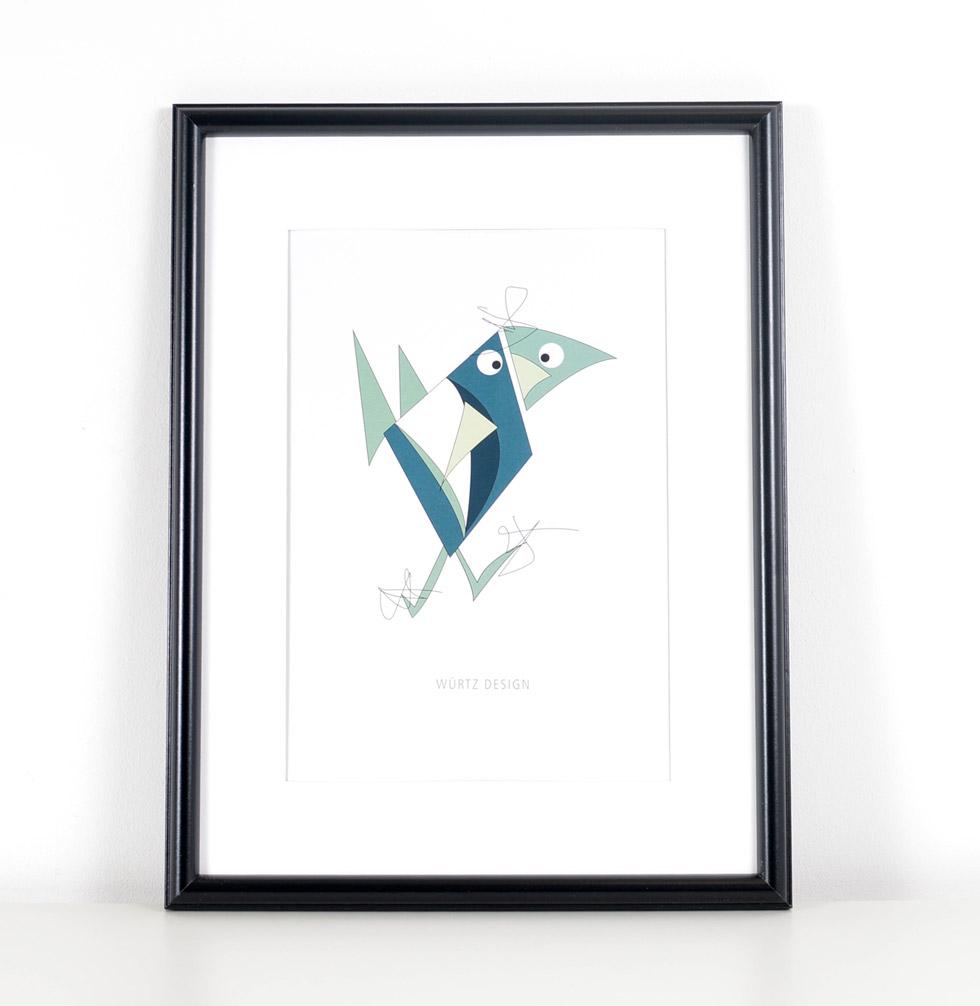 Würtz Design Plakat Dush fugl 2