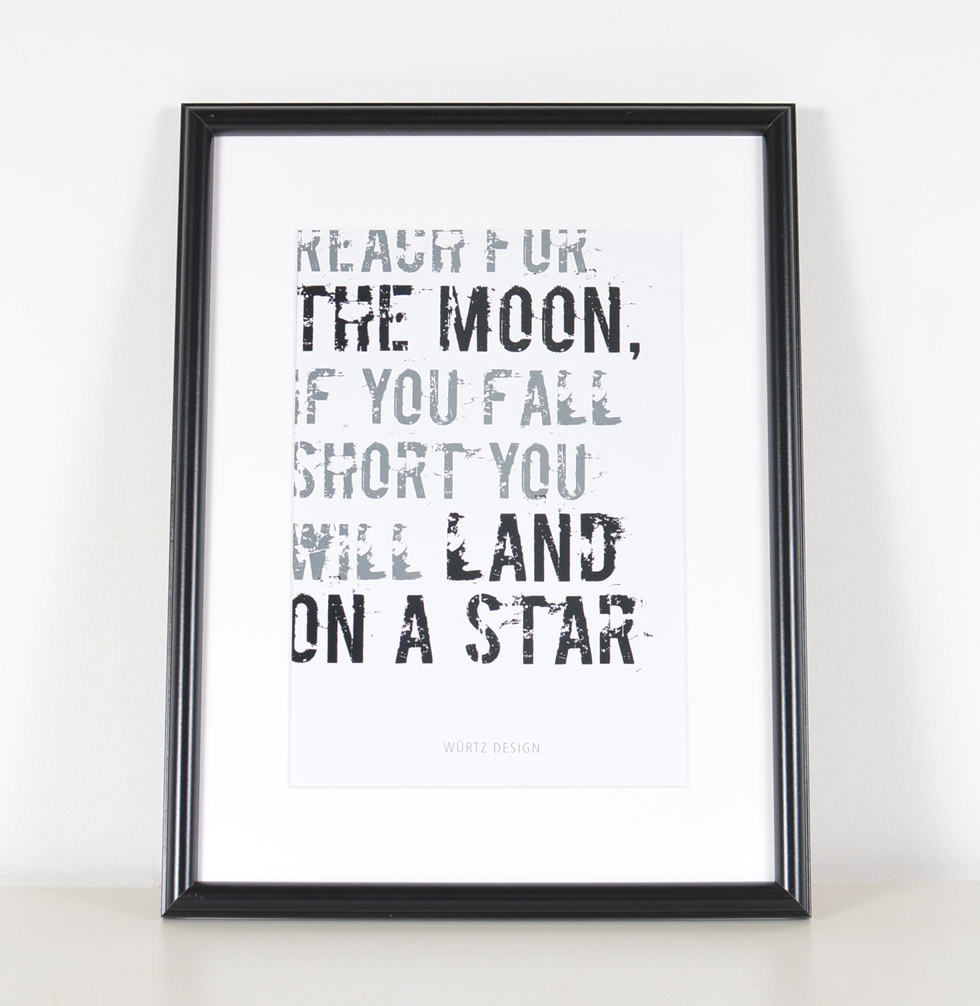 Plakat - Reach for the moon