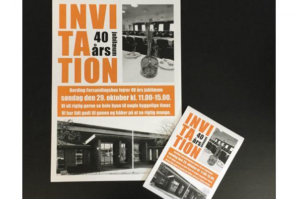 Plakat og invitaiton